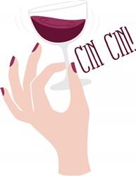 Wine Glass Toast print art