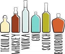 Variety Of Liquor print art