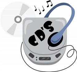 CD Walkman print art