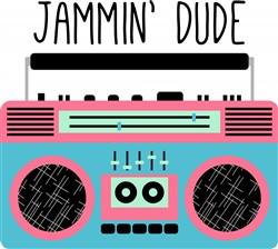 Jammin Boom Box print art
