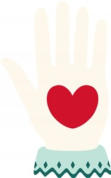 Heart Hand print art