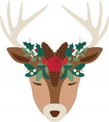Mistletoe Reindeer print art