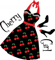 Cherry Girl print art