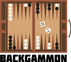 Backgammon Board print art