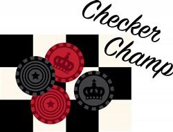 Checker Champ print art