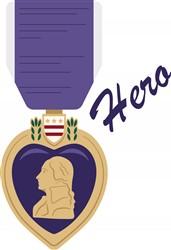 Purple Heart Hero print art