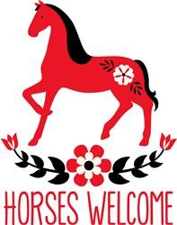 Horses Welcome print art