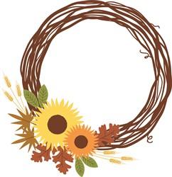 Sunflowers Wreath print art