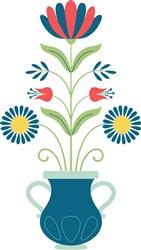 Folk Art Bouquet print art