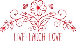 Live Laugh Love print art