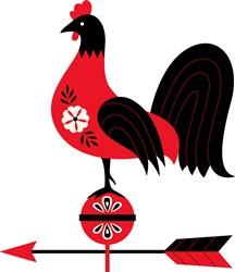 Folk Art Rooster print art