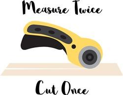Measure Twice print art