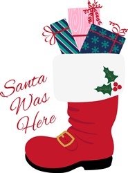 Santa Was Here print art