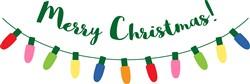 Merry Christmas Lights print art