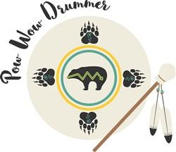 Pow Wow Drummer print art
