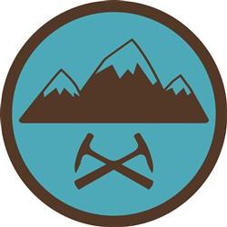 Mountaineering Badge print art