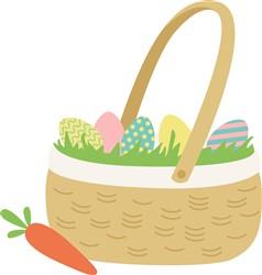 Easter Egg Basket print art