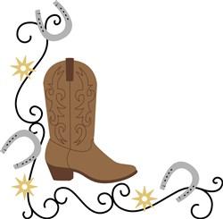 Cowboy Boot Corner print art