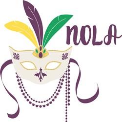 NOLA  Mask print art