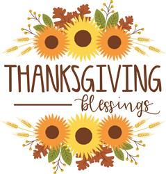 Thanksgiving Blessings print art