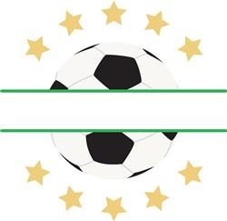 Soccer Split Frame print art