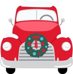 Holiday Wreath Truck print art