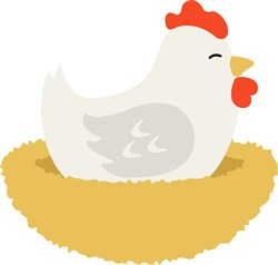 Hen On Nest print art