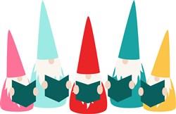 Gnomes Caroling print art