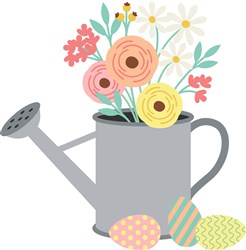 Floral Watering Can print art