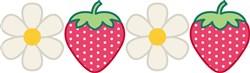Strawberries & Daisies print art