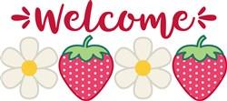 Welcome Strawberries print art