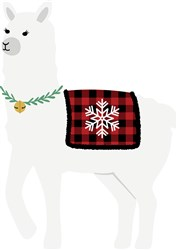 Christmas Llama print art
