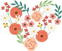 Flower Heart print art