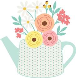 Flower Tea Pot print art