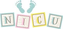 NICU Footprints print art