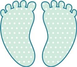 Baby Footprints print art