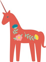 Folk Art Unicorn print art