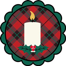 Christmas Candle  print art