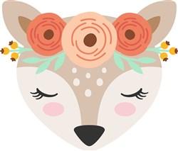Floral Fawn print art