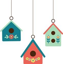 Folk Art Bird Houses print art