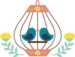 Folk Art Birdcage  print art