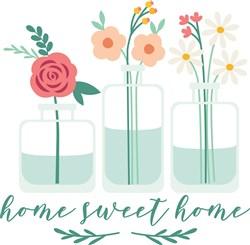 Sweet Home Flowers print art