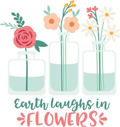 Earth Laughs In Flowers print art