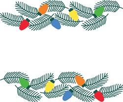 Christmas Garland print art