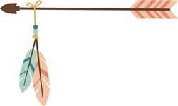 Arrow With Feathers print art