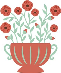 Rose Flower Pot print art
