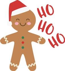 Ho Ho Ho Gingerbread print art