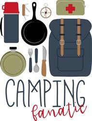 Camping Fanatic print art
