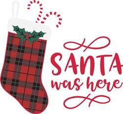 Santa Was Here print art
