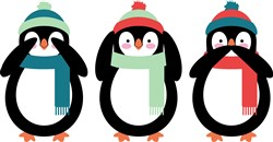 Winter Penguins print art
